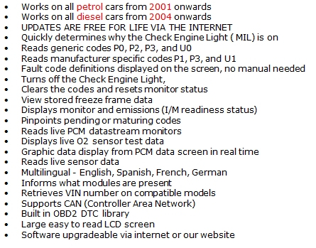 Details about UNIVERSAL ALL Car fault reader code scanner diagnostic tool  OBD 2 CAN RESET TOOL